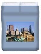 Buckingham Fountain - 4 Duvet Cover