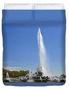 Buckingham Fountain - Chicago's Iconic Landmark Duvet Cover by Christine Till