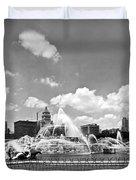 Buckingham Fountain In Chicago Duvet Cover