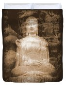 Buddha And Ancient Tree Duvet Cover