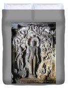 Buddha At Elora Caves India Duvet Cover