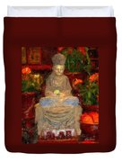 Buddha In Red Duvet Cover