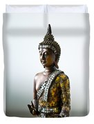 Buddha Statue With A Golden Robe Duvet Cover