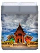 Buddha Temple Duvet Cover