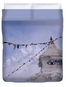 Buddhist Shrine In The Himalayas Duvet Cover