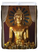 Buddhist Statue In Wat Phra Singh Duvet Cover