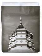 Buddhist Temple Wat Luang In Chiang Khong In Thailand Duvet Cover