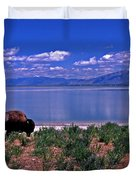 Buffalo And The Great Salt Lake Duvet Cover
