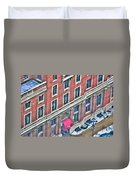 Buffalo Athletic Club Downtown Winter Duvet Cover