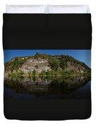 Buffalo River Bend Panorama Duvet Cover
