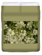 Bug On White Blooms Duvet Cover