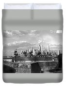 Buglers On Governors Island Duvet Cover