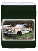 Buick Yard Duvet Cover by Steve McKinzie