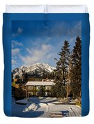Building On A Cold Sunny Day  Duvet Cover