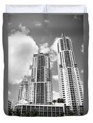 Buildings Downtown Miami Duvet Cover
