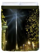 Buildings Lit Up At Night, Oconnell Duvet Cover