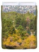 Bull Elk Lake Crusing With Autumn Colors Duvet Cover