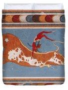 Bull-leaping Fresco From Minoan Culture Duvet Cover