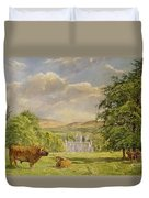 Bulls At Balmoral Duvet Cover