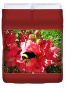 Bumblebee And Snapdragon Duvet Cover