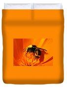 Bumblebee On Flower Duvet Cover