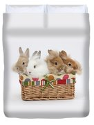 Bunnies In A Basket Duvet Cover