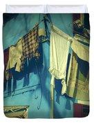 Burano - Laundry Duvet Cover by Joana Kruse
