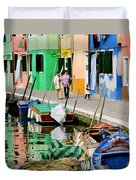 Burano Reflections Duvet Cover