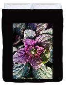 Burgundy Glow Bugleweed Duvet Cover