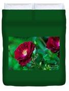 Burgundy Iceberg Rose Duvet Cover