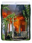 Burning House Duvet Cover