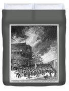 Burning Of Colon, 1885 Duvet Cover