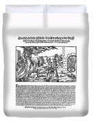 Burning Of Witches, 1555 Duvet Cover