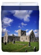 Burrishoole Friary, Co Mayo, Ireland Duvet Cover by The Irish Image Collection