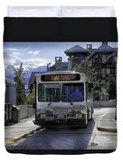 Bus To East Vail - Colorado Duvet Cover