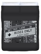 Buses Only II Duvet Cover
