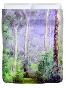 Bush Trail At The Afternoon Duvet Cover