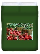 Bushels Of Green And Red Duvet Cover