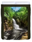 Bushkill Waterfalls Duvet Cover