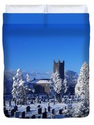 Bushmills Church, County Antrim Duvet Cover