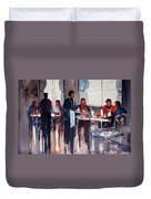 Business Lunch Duvet Cover