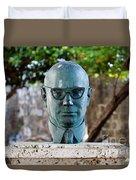 Bust Of Carlos Lleras Restrepo In Cartagena De Indias Colombia Duvet Cover