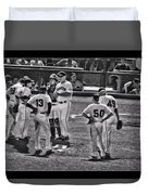 Buster Posey Ryan Theriot Joaquin Arias Hector Sanchez Bruce Bochy Javier Lopez Conor Gillaspie   Duvet Cover
