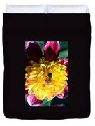 Busy Bee On Yellow Flower Duvet Cover