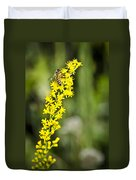 Busy Bee On Yellow Wildflower Duvet Cover