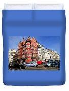 Busy Street Corner In London Duvet Cover