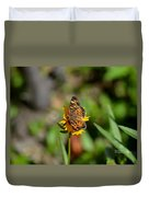Butterfly Gold Duvet Cover