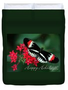 Butterfly Holiday Card Duvet Cover