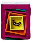 Butterfly In Box Duvet Cover