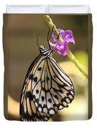Butterfly On A Stem Duvet Cover